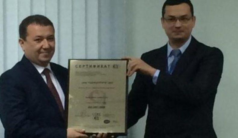 """""""Ўзагросуғурта""""га ISO 9001:2008 сертификати топширилди"""