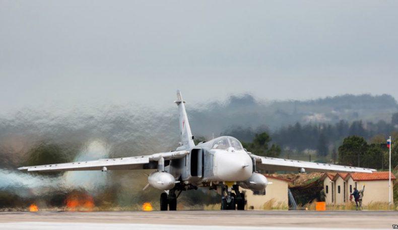 Сурияда Россиянинг Су-24 самолёти қулаб тушди, экипаж ҳалок бўлди