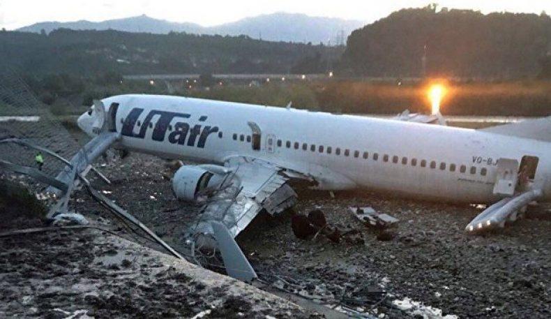 Boeing самолётининг Сочидаги авариявий қўниши оқибатида 18 киши жабрланди
