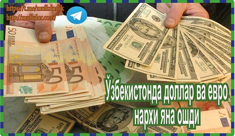 Ўзбекистонда доллар ва евро нархи яна ошди