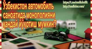 Ўзбекистон автомобиль саноатида монополияни қандай йўқотиш мумкин?
