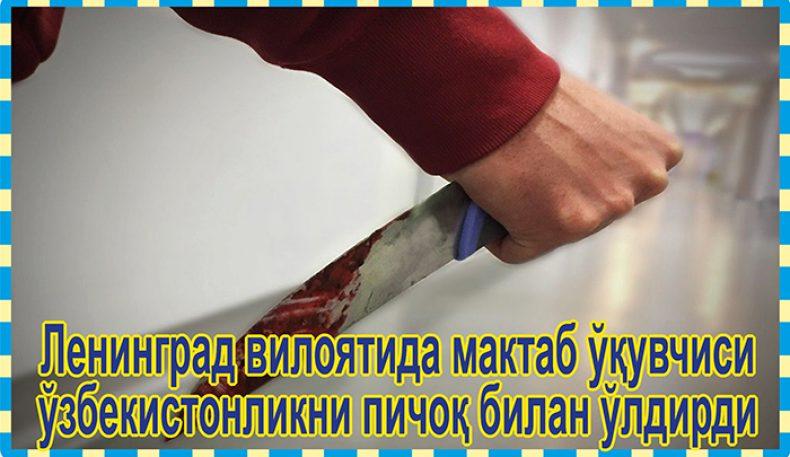 Ленинград вилоятида мактаб ўқувчиси ўзбекистонликни пичоқ билан ўлдирди
