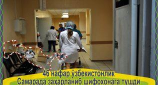 46 нафар ўзбекистонлик самарада заҳарланиб шифохонага тушди