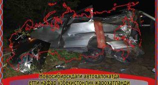 Новосибирскдаги автоҳалокатда етти нафар ўзбекистонлик жароҳатланди
