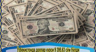 Ўзбекистонда доллар курси 9 395,63 сўм бўлди