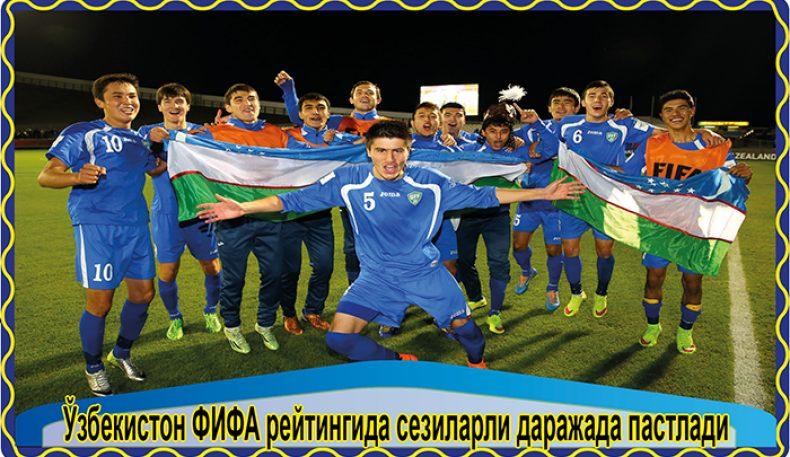 Ўзбекистон ФИФА рейтингида сезиларли даражада пастлади