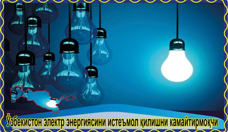 Ўзбекистон электр энергиясини истеъмол қилишни камайтирмоқчи